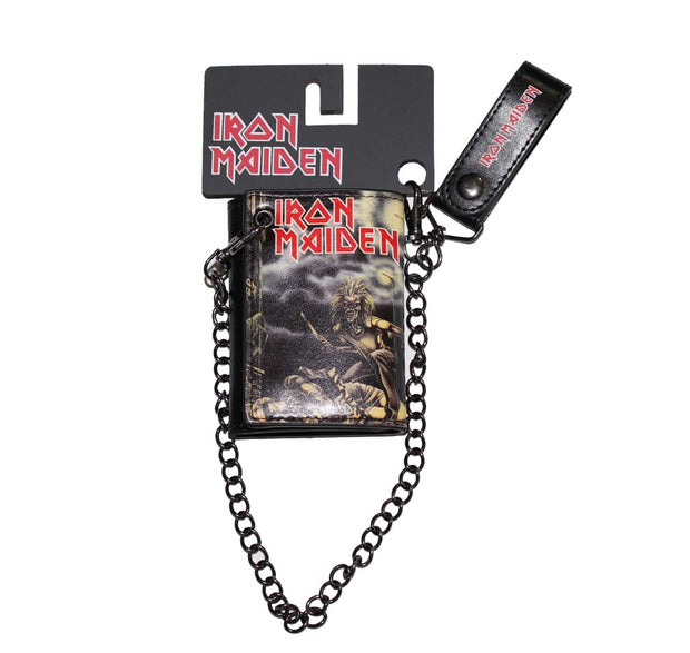 Iron Maiden Sanctuary Trifold Wallet & Chain - Rockteez Apparel