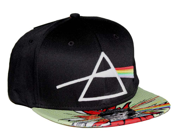 Pink Floyd Dark Side Comic Flat Bill Snapback Hat | Rockteez Apparel