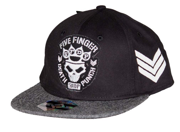 Five Finger Death Punch Flat Bill Snapback Hat - Rockteez Apparel