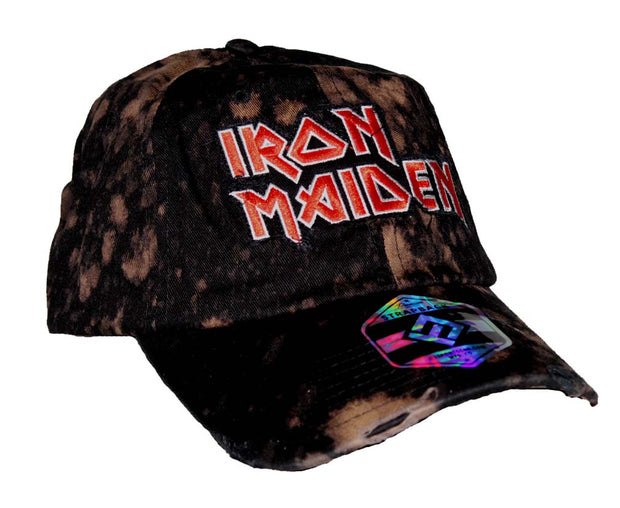 Iron Maiden Bleach Logo Hat - Rockteez Apparel