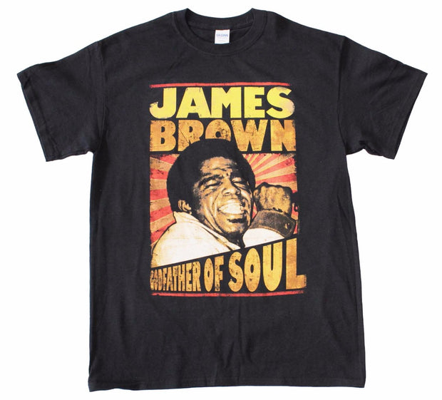 James Brown Godfather of Soul T-Shirt - Rockteez Apparel