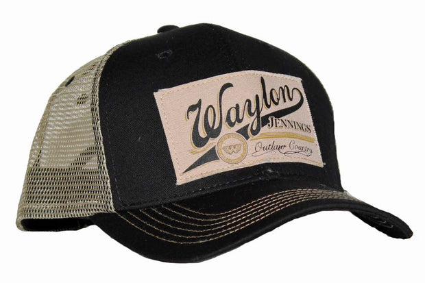 Waylon Jennings Outlaw Country Trucker Hat | Rockteez Apparel