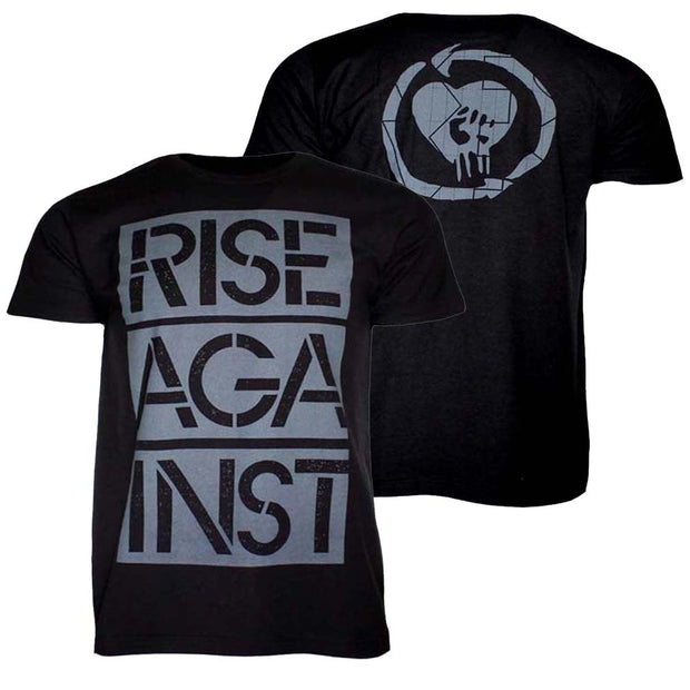 Rise Against Stacked Stencil Ghost Notes T-Shirt