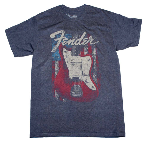 Fender Flag Guitar T-Shirt - Rockteez Apparel