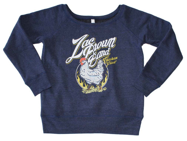 Zac Brown Band Chicken Fried Off the Shoulder Juniors Pullover Sweatshirt | Rockteez Apparel