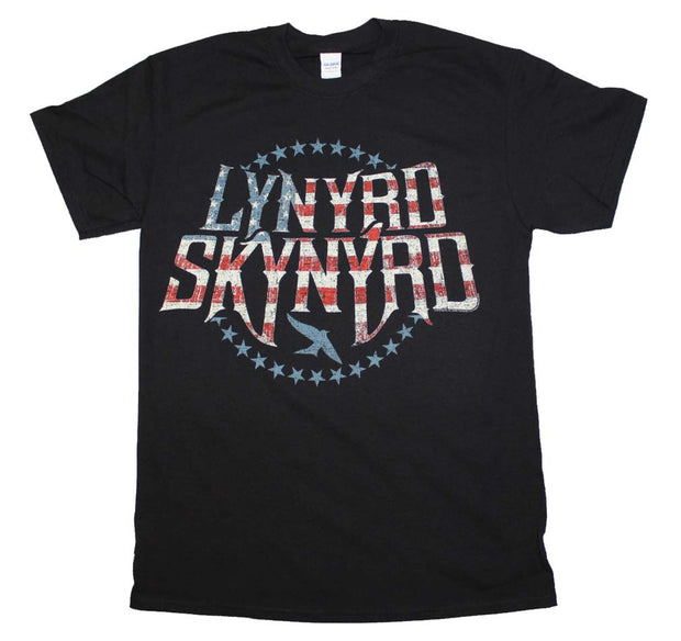 Lynyrd Skynyrd Stripes and Stars Logo T-Shirt - Rockteez Apparel