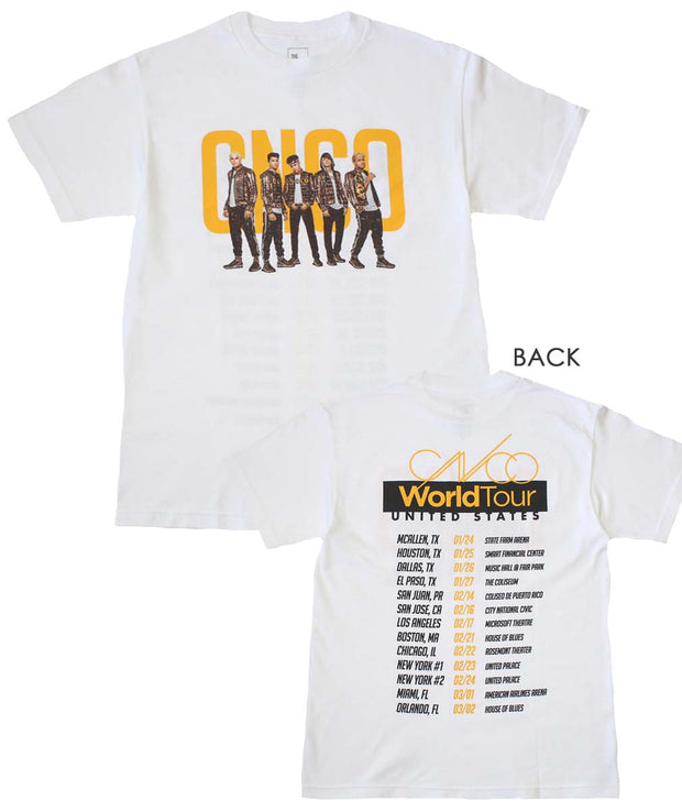 CNCO Band Photo White T-Shirt
