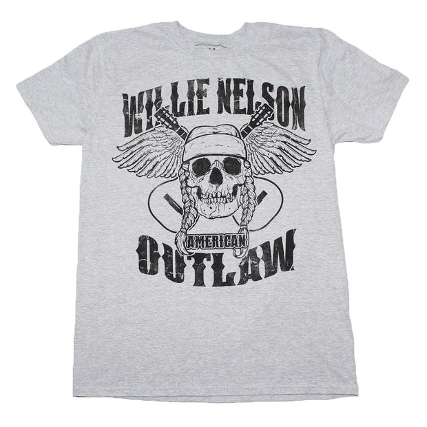 Willie Nelson Outlaw Skull T-Shirt | Rockteez Apparel