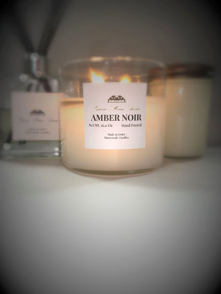 3 Wick Amber Noir - Greene House Scents