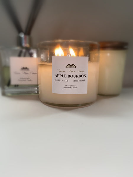 3 Wick  Apple Bourbon - Greene House Scents