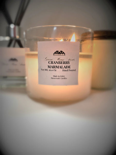 3 Wick Cranberry Marmalade - Greene House Scents