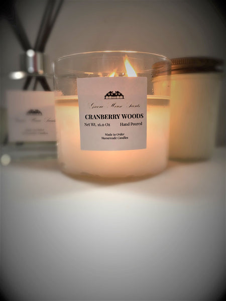3 Wick Cranberry Woods - Greene House Scents