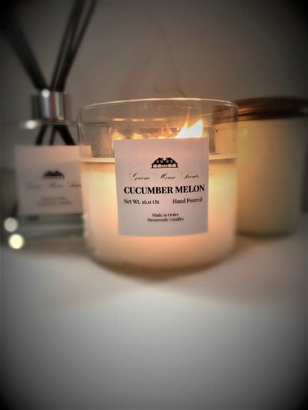 3 Wick Cucumber Melon - Greene House Scents