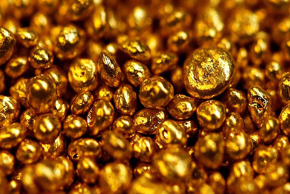 Gold, a very resistant and high quality metal used for jewelry.