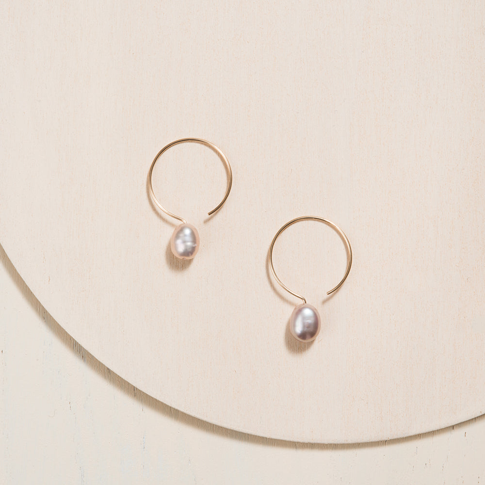Basic Gold Filled 24mm Earrings by Camillette Jewelry