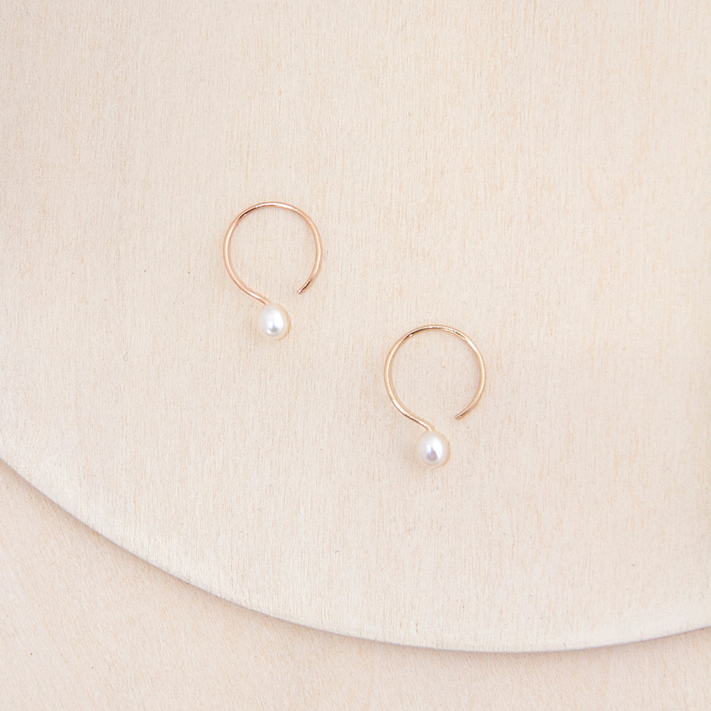 Small basics brass or silver chunky hoop earrings by Camillette