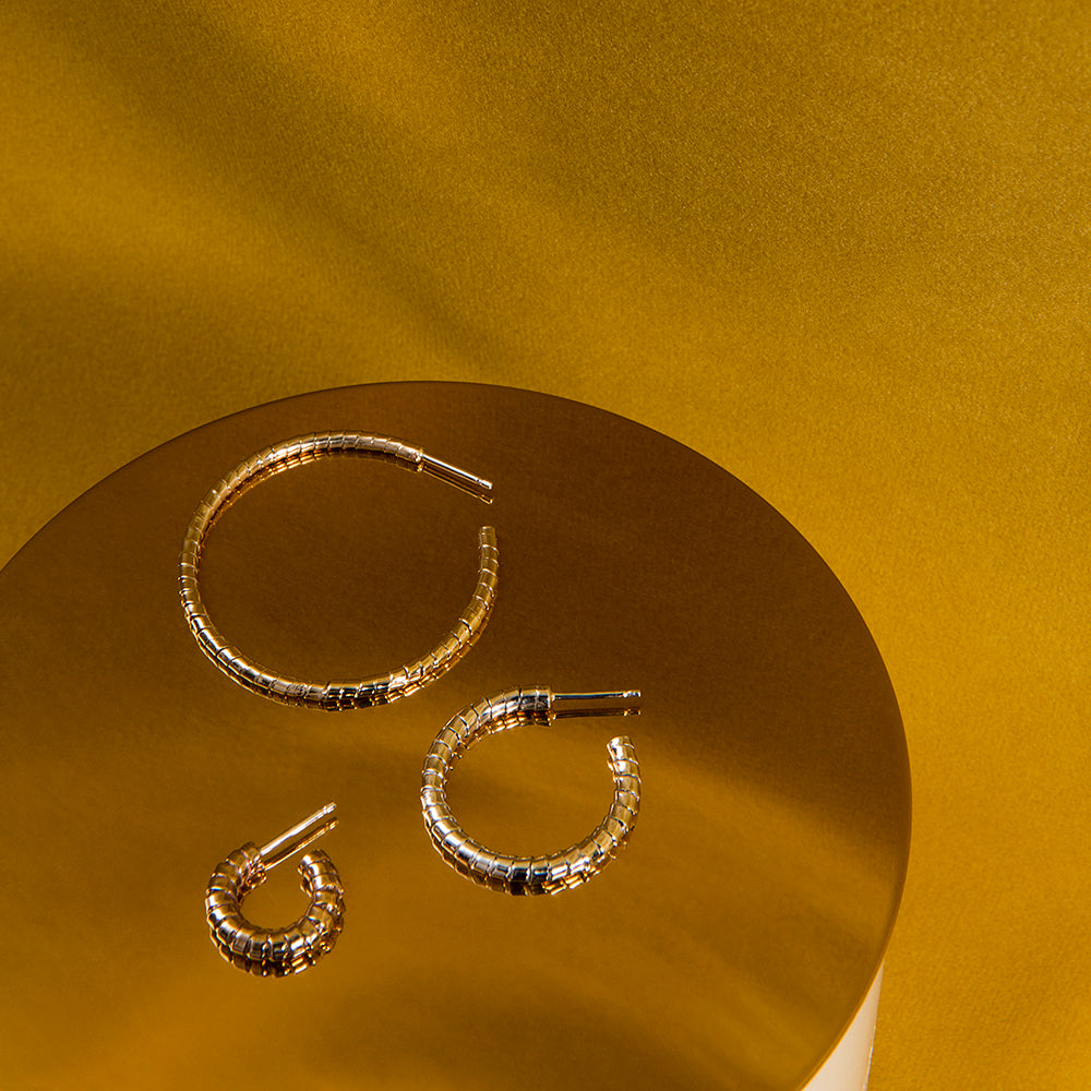 Twisted Ribbon Hoop Earrings, Origine Collection by Camillette