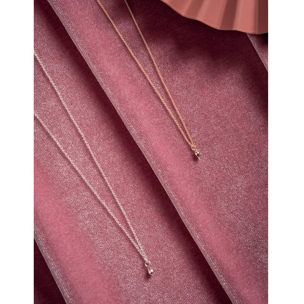 Delicate Charm Necklaces in Silver and Gold 14k by Camillette