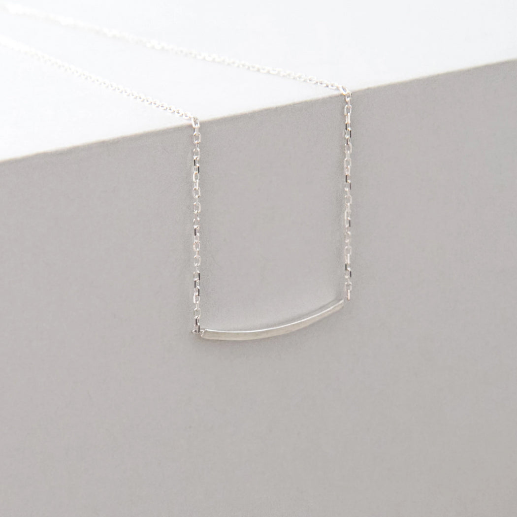 Contour Necklace – Brass or Silver