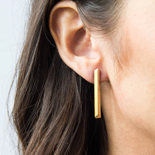 Long Line Earrings – Brass or Silver