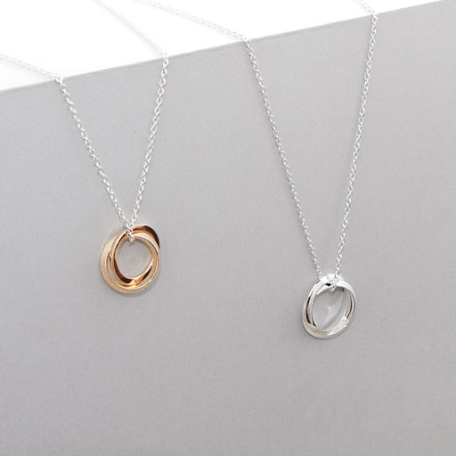 Line Union Necklace – Brass or Silver