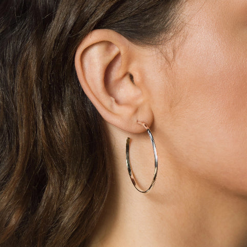 Hoops Earrings – Brass or Silver