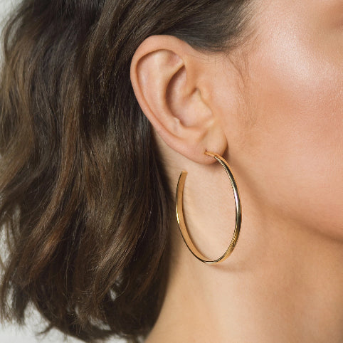 Bold & Chunky Hoops Earrings – Brass – Large