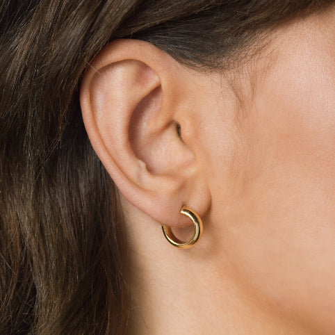 Chunky Hoops Earrings – Brass –  Small