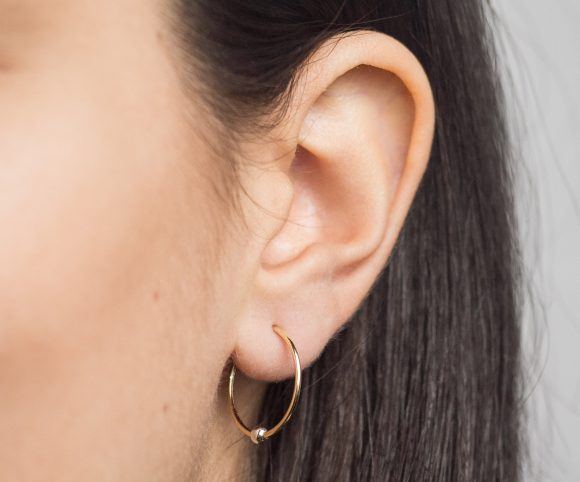 Sleepers Hoops Earrings – 10k Yellow Gold – Medium