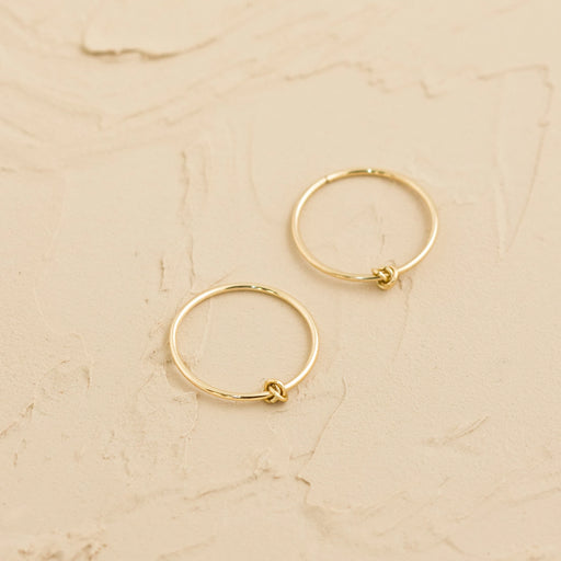 Sleepers Hoops Earrings – 10k Yellow Gold