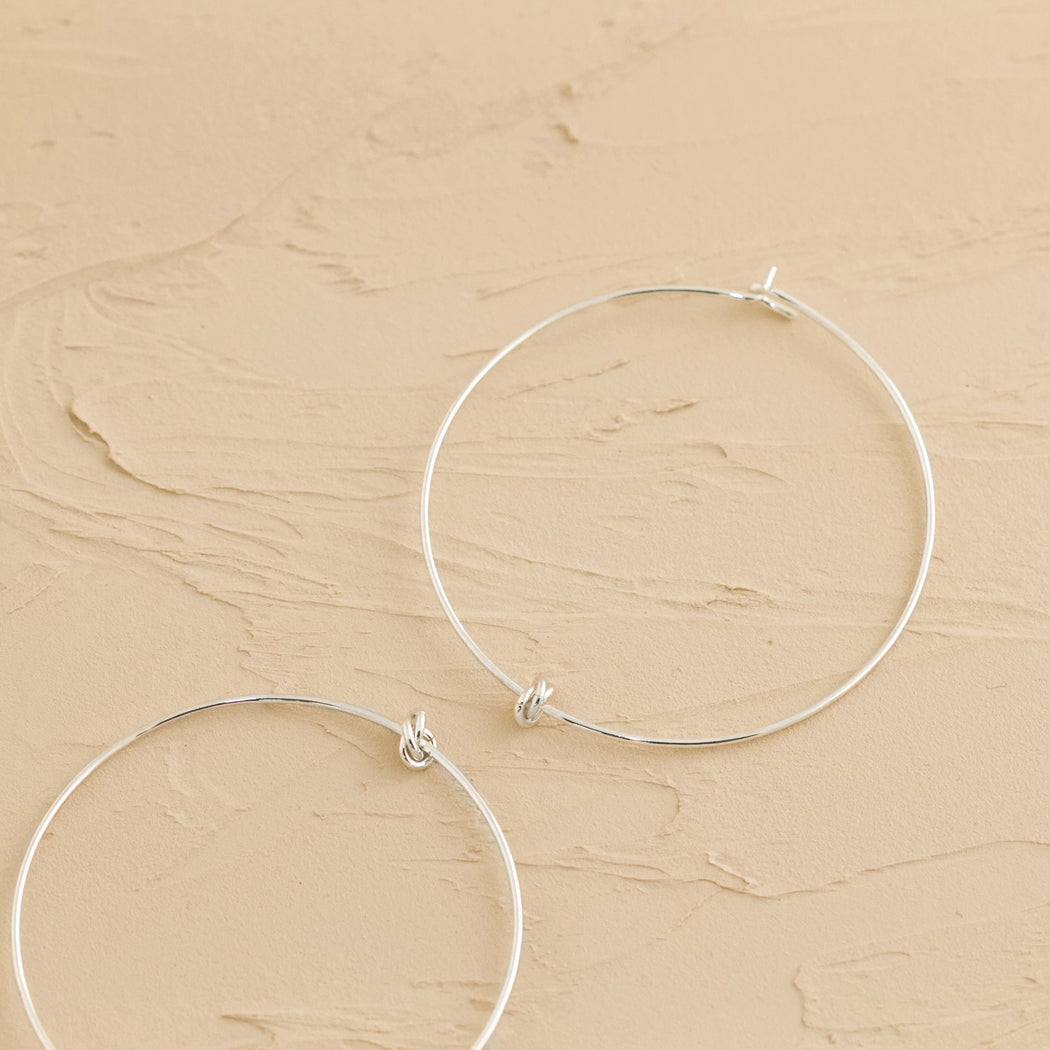 Hoops Earrings – Silver – Large