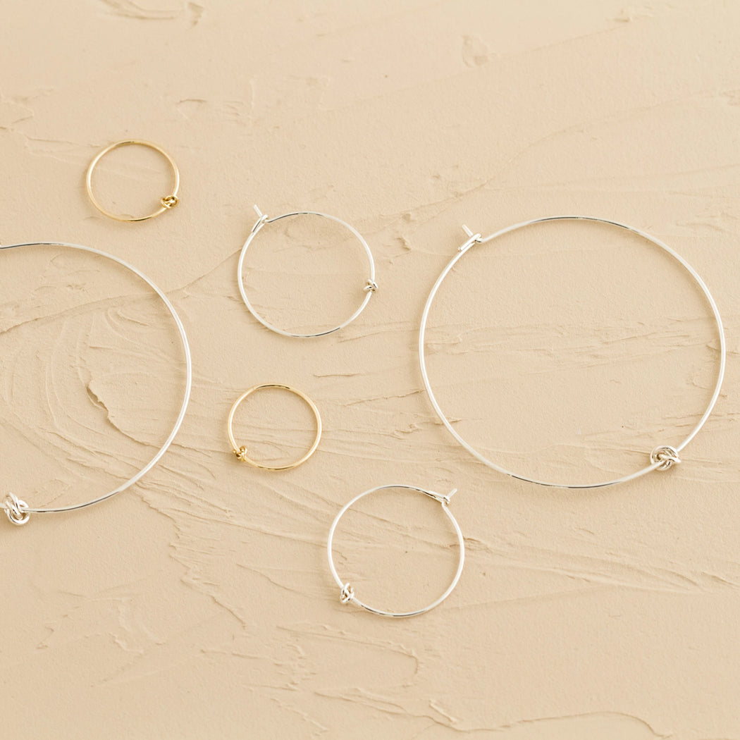 Hoops Earrings – 14k Yellow Gold – Medium