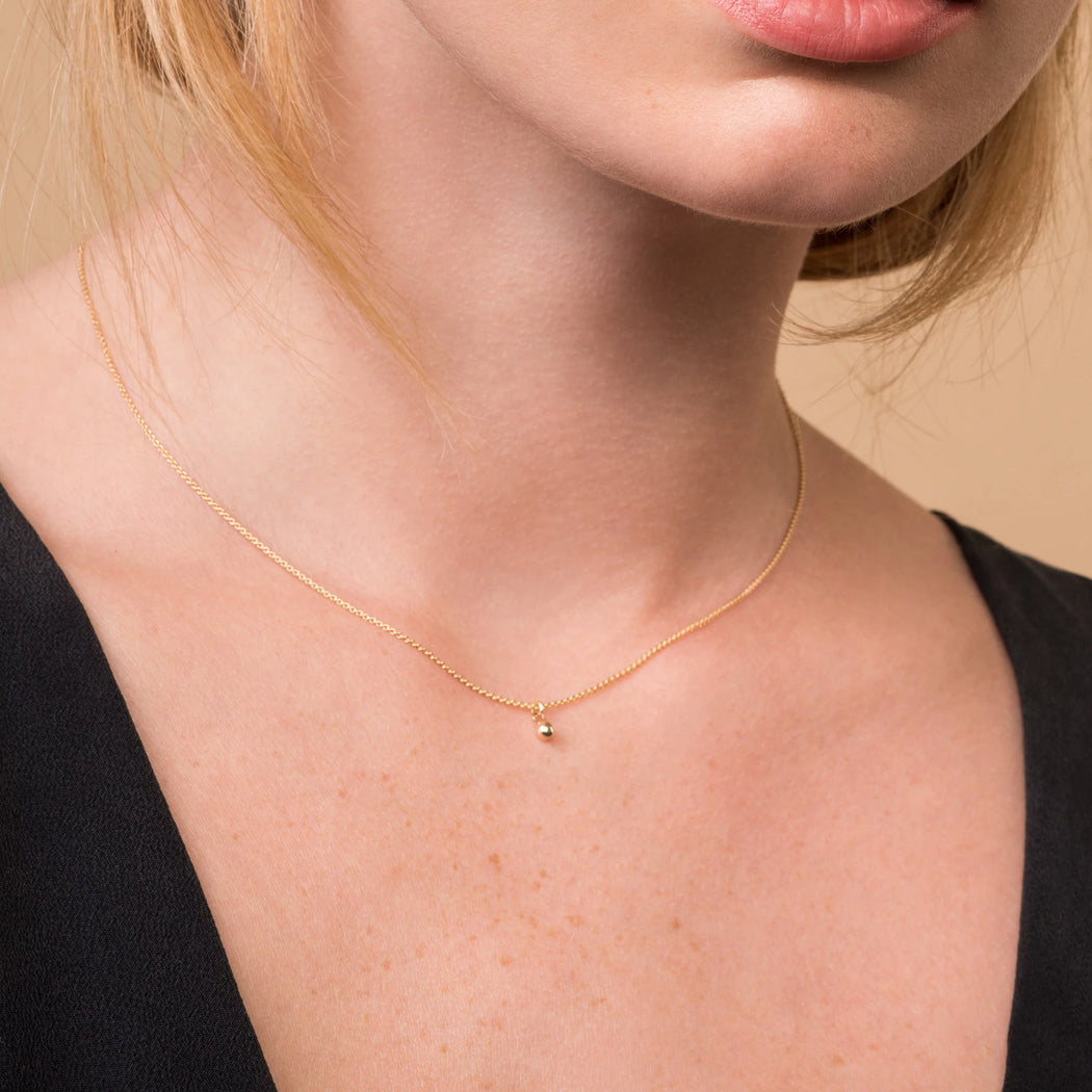 Orb Necklace – 10k and 14k Yellow or White Gold