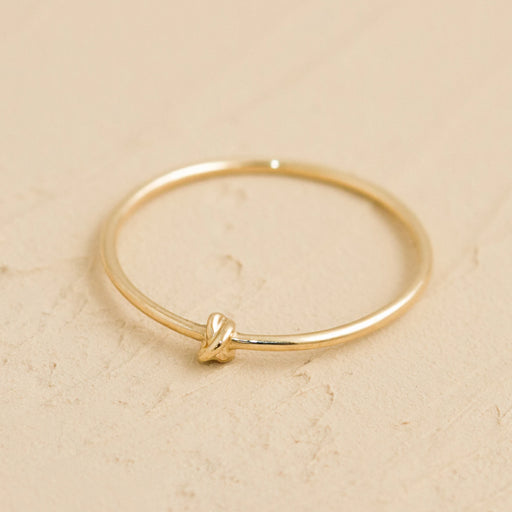 X Ring – 14k Yellow Gold