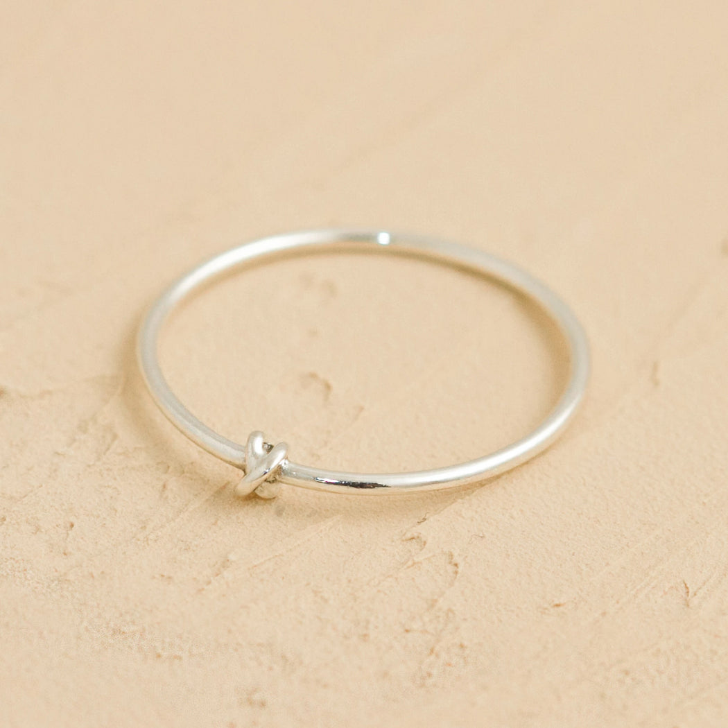 Dainty silver staking ring made in Montreal