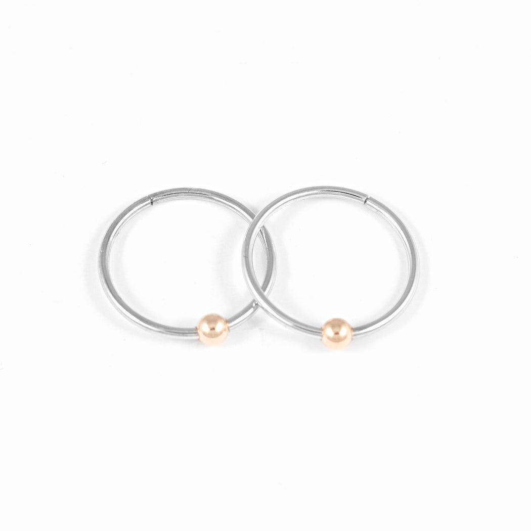 Sleepers Hoops Earrings – 10k White Gold – Medium