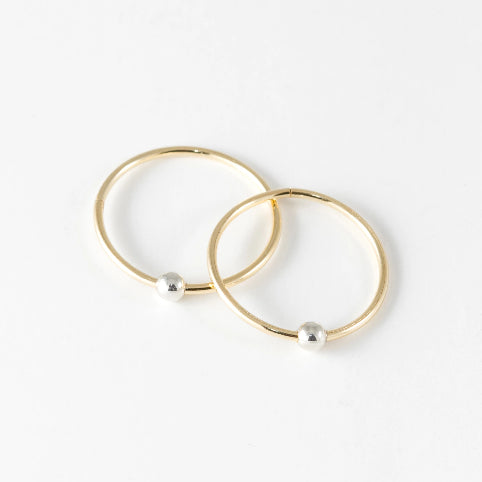 Sleepers Hoops Earrings – 10k Yellow Gold – Large
