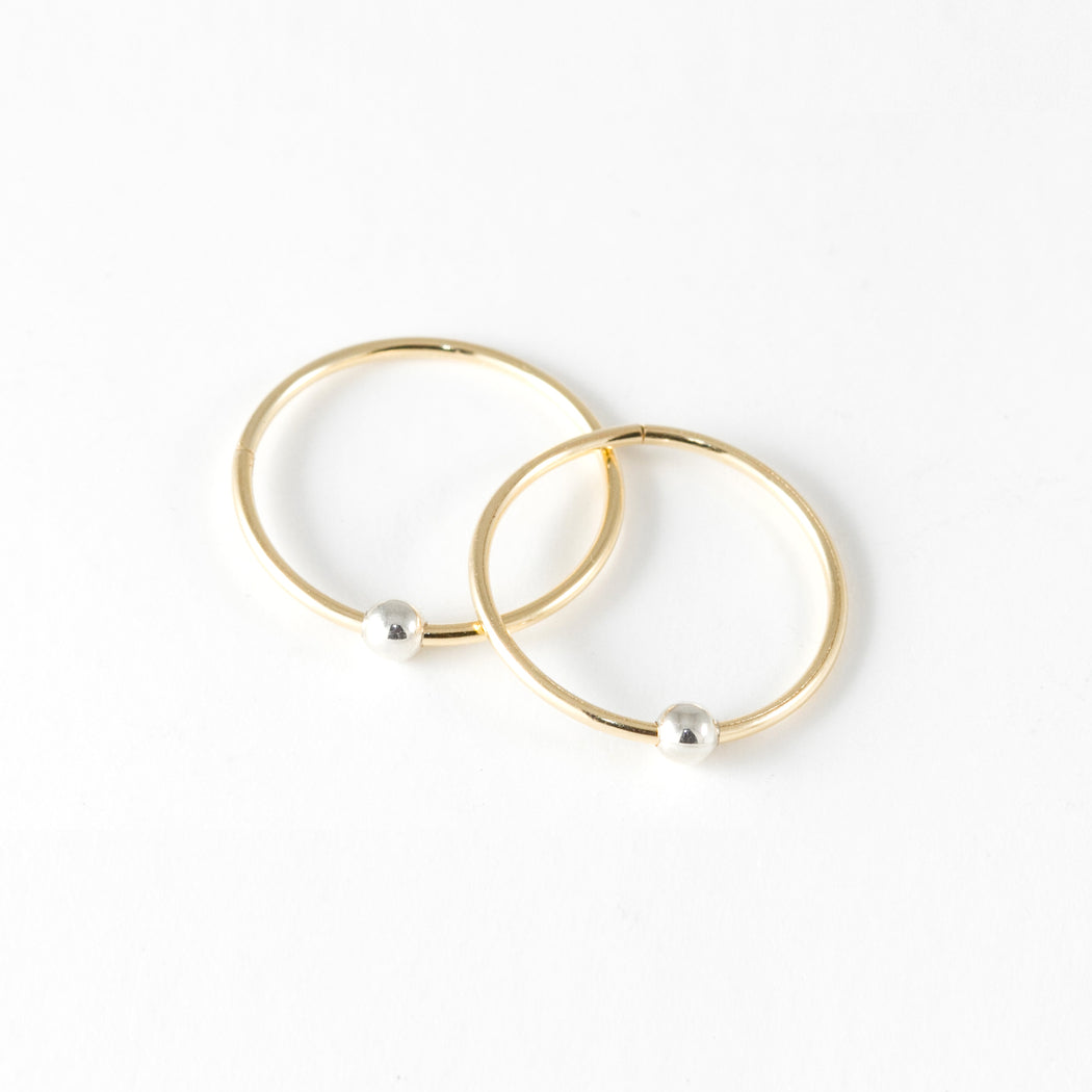 15mm Sleepers Hoops Earrings – 10k Yellow Gold – Medium