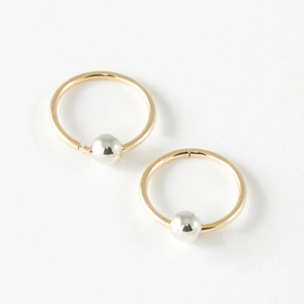 Sleepers Hoops Earrings – 10k Yellow Gold – Mini