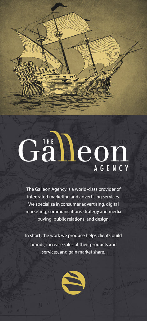 The Galleon Agency Rack Card