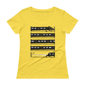 Rat Train by Jeff Prymowicz printed on Lemon Zest Anvil Tshirt