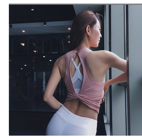 Open Back Sport Yoga Top