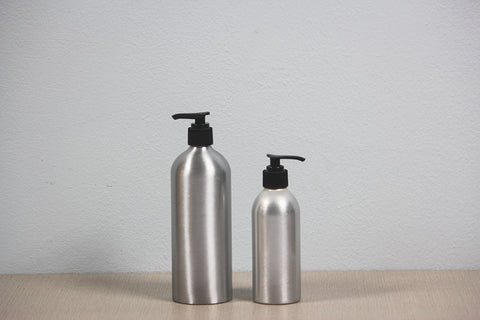 Aluminum Bottle with Pump Dispenser