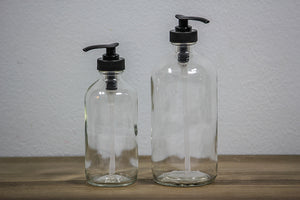 Glass Bottle with Pump Dispenser