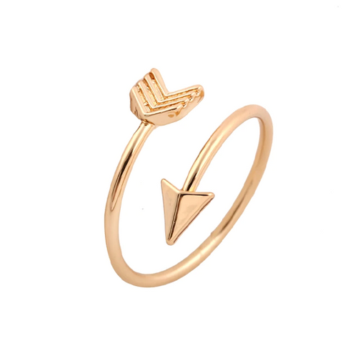 Gold, Rose Gold Or Silver Plated Shooting Arrow Loop Ring