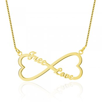 Infinity 18ct Gold Plated Personalised 2 Name Necklace