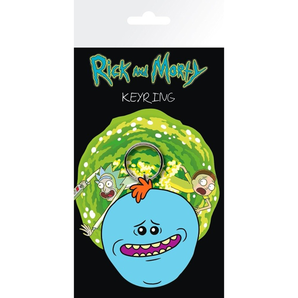 Official Rick & Morty Mr Meeseeks Keychain / Keyring