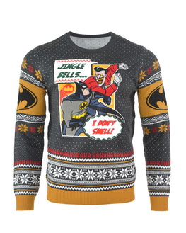 Official Batman I Don't Smell Christmas Jumper / Ugly Sweater