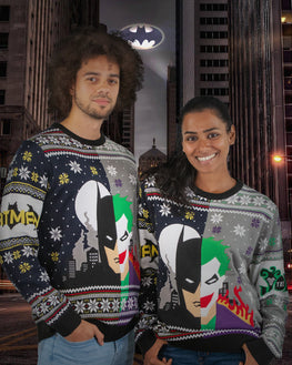 Official Batman vs Joker Ugly Christmas Sweater