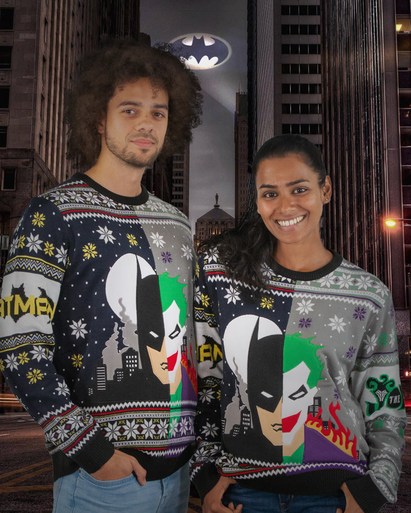 Official Batman vs Joker Christmas Jumper / Ugly Sweater
